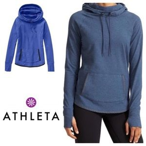 ATHLETA electric blue sentry pullover hoodie